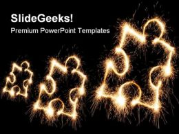 Puzzle Sparkle Abstract PowerPoint Templates And PowerPoint Backgrounds 0711