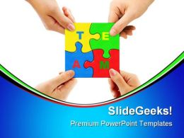 Puzzle Team01 Business PowerPoint Templates And PowerPoint Backgrounds 0811