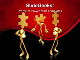 Puzzle Team02 Business PowerPoint Templates And PowerPoint Backgrounds 0811