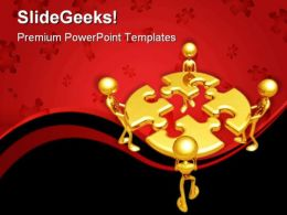 Puzzle Team Business PowerPoint Templates And PowerPoint Backgrounds 0811