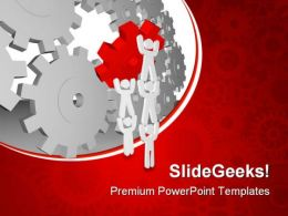 Puzzle Team Leadership PowerPoint Templates And PowerPoint Backgrounds 0611