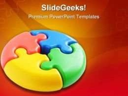 Puzzle Teamwork Business PowerPoint Templates And PowerPoint Backgrounds 0411