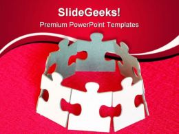 Puzzle Unity Leadership PowerPoint Templates And PowerPoint Backgrounds 0811