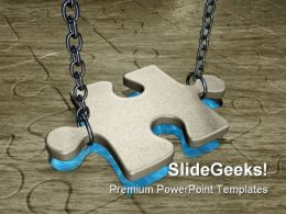 Puzzle With Chain Business PowerPoint Templates And PowerPoint Backgrounds 0711