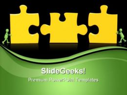 Puzzles Teamwork Success PowerPoint Templates And PowerPoint Backgrounds 0811