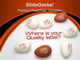 Quality Label Business PowerPoint Backgrounds And Templates 0111