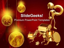 Question For Gift Christmas PowerPoint Templates And PowerPoint Backgrounds 0511