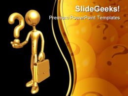 Question Man Symbols PowerPoint Template 0510