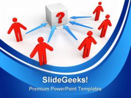Question People Communication Templates And PowerPoint Backgrounds 0411
