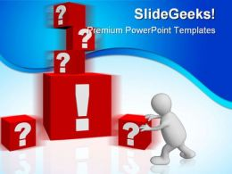 Questions People PowerPoint Template 0910