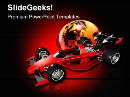 Race Car And Globe Sports PowerPoint Templates And PowerPoint Backgrounds 0811