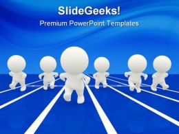 Racing Competition Business PowerPoint Templates And PowerPoint Backgrounds 0411