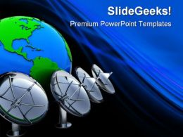 Radio Aerials Earth PowerPoint Templates And PowerPoint Backgrounds 0411