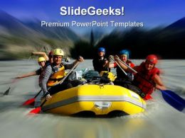 Rafting Sports PowerPoint Template 1110