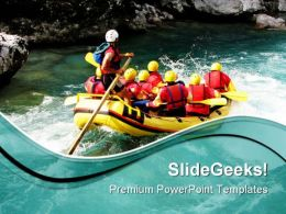 Rafting Vacation PowerPoint Templates And PowerPoint Backgrounds 0511