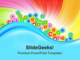 Rainbow Abstract Background PowerPoint Templates And PowerPoint Backgrounds 0711