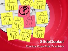 Raises Hand Leadership PowerPoint Templates And PowerPoint Backgrounds 0211