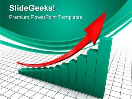 Raising Charts Business PowerPoint Templates And PowerPoint Backgrounds 0711