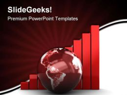 Raising Charts Globe PowerPoint Templates And PowerPoint Backgrounds 0411
