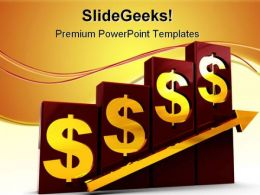 Raising Dollar Finance PowerPoint Templates And PowerPoint Backgrounds 0711