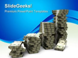 Raising Money Stacks Finance PowerPoint Templates And PowerPoint Backgrounds 0711