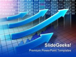 Raising Stocks Business PowerPoint Templates And PowerPoint Backgrounds 0811