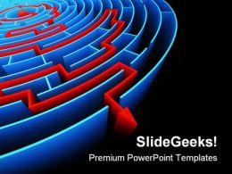 Reaching The Success Maze Business PowerPoint Template 1110