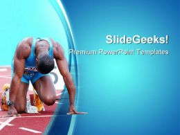 Ready To Go Sports PowerPoint Templates And PowerPoint Backgrounds 0811