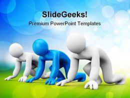 Ready To Start Success PowerPoint Templates And PowerPoint Backgrounds 0811
