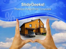 Real Estate House Sales PowerPoint Templates And PowerPoint Backgrounds 0611