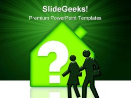 Real Estate With Question People PowerPoint Templates And PowerPoint Backgrounds 0811