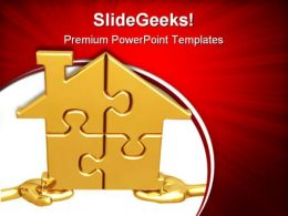 Realty Puzzle Metaphor PowerPoint Templates And PowerPoint Backgrounds 0811