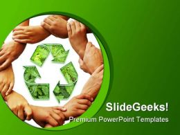 Recycle01 Environment PowerPoint Template 1110