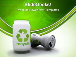 Recycle Aluminium Cans Environment PowerPoint Templates And PowerPoint Backgrounds 0711
