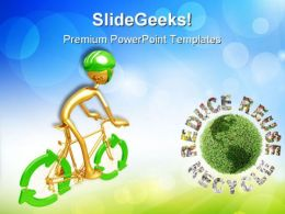 Recycle Bicycle Environment PowerPoint Templates And PowerPoint Backgrounds 0711