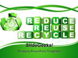 Recycle Environment PowerPoint Backgrounds And Templates 1210