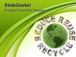 Recycle Environment PowerPoint Template 1110