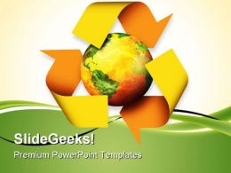Recycle Globe PowerPoint Templates And PowerPoint Backgrounds 0811