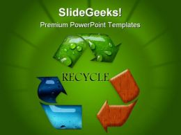 Recycle Symbol Nature PowerPoint Templates And PowerPoint Backgrounds 0811