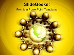 Recycle The World Globe PowerPoint Templates And PowerPoint Backgrounds 0411