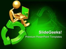 Recycling Online Networking Internet PowerPoint Templates And PowerPoint Backgrounds 0711