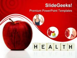 Red Apple Health PowerPoint Templates And PowerPoint Backgrounds 0211