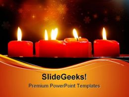 Red Candles Beauty PowerPoint Templates And PowerPoint Backgrounds 0711