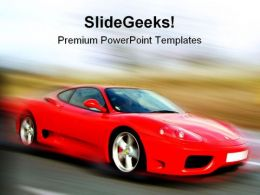 Red Car Sports PowerPoint Templates And PowerPoint Backgrounds 0711