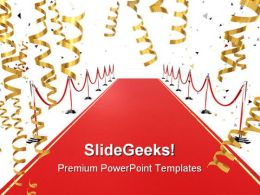 Red Carpet Background PowerPoint Templates And PowerPoint Backgrounds 0811