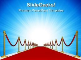 Red Carpet Metaphor PowerPoint Background And Template 1210