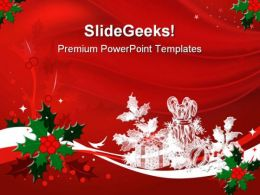 Red Christmas PowerPoint Template 0610