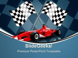 Red Formula Car Sports PowerPoint Templates And PowerPoint Backgrounds 0711