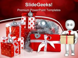 Red Gift Boxes Festival PowerPoint Templates And PowerPoint Backgrounds 0511