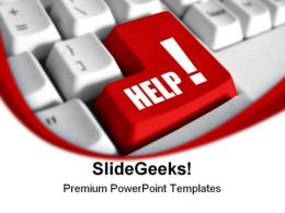 Red Help Button Metaphor PowerPoint Templates And PowerPoint Backgrounds 0811